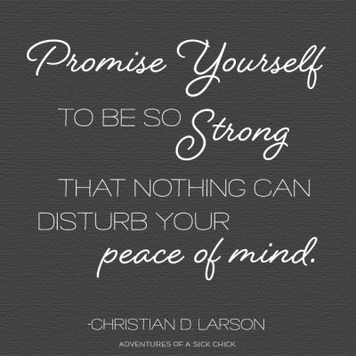 Promise Yourself (in 2016)