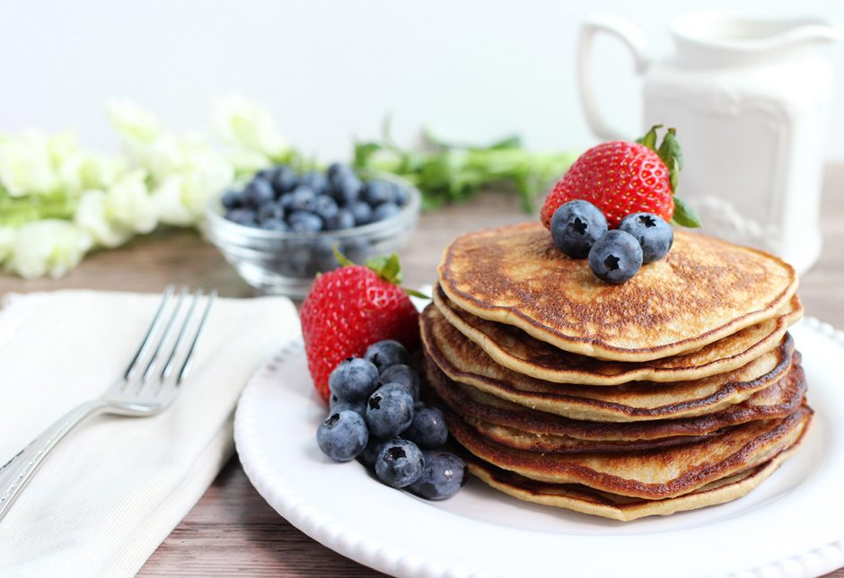 Perfect Paleo Pancakes made with Cassava Flour, Nut-Free, Grain-Free, Dairy-Free
