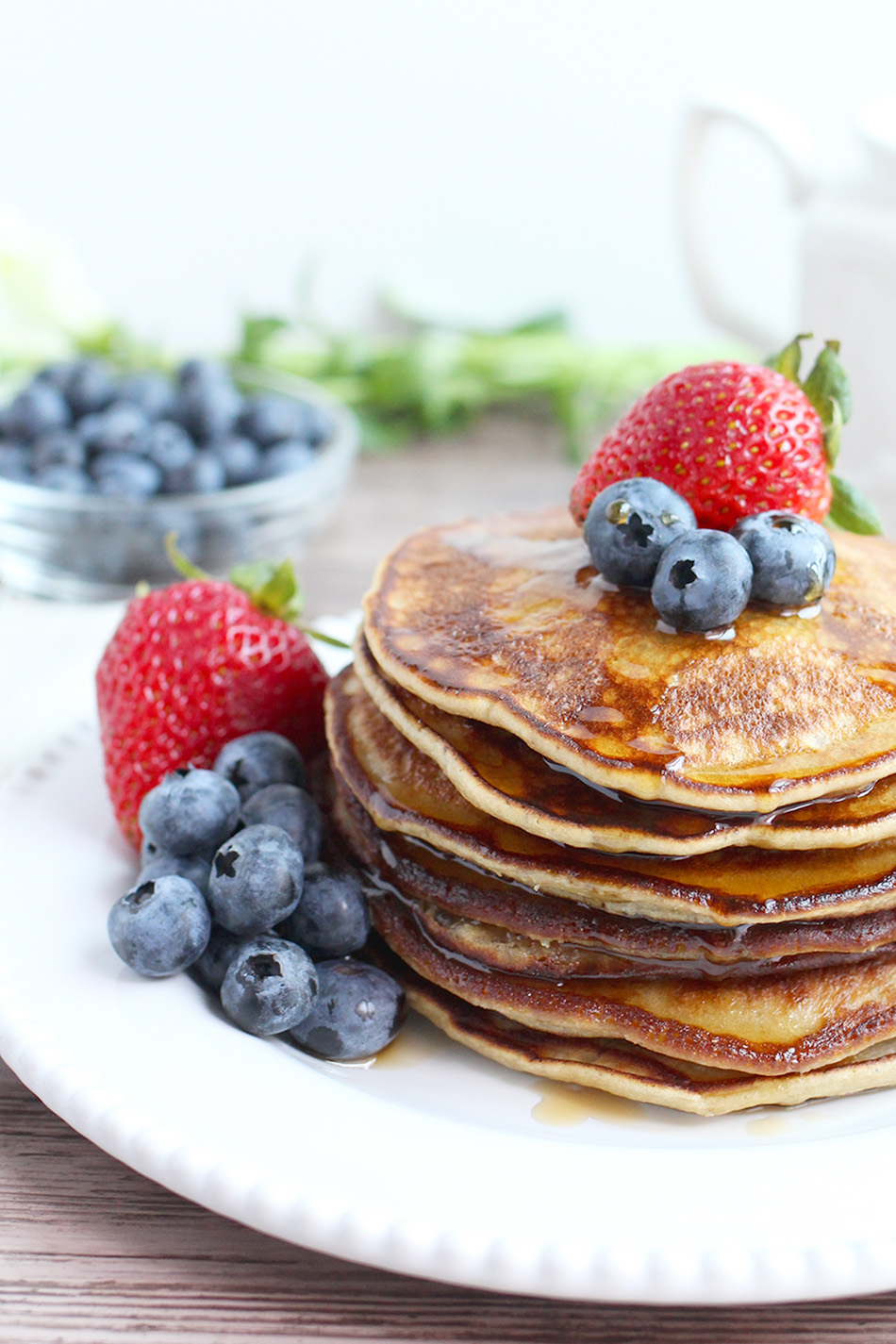 Perfect Paleo Pancakes made with Cassava Flour, Nut-Free, Grain-Free, Dairy-Free Recipe