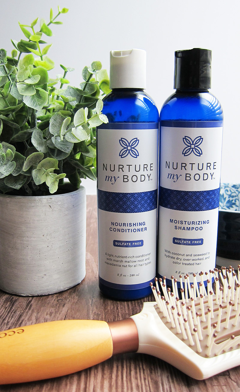 Best Natural Shampoo and Conditioner, Nurture My Body Moisturizing Shampoo and Nourishing Conditioner