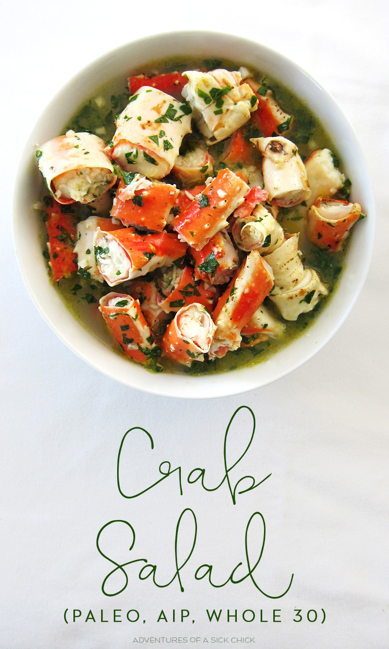 Crab Salad (Paleo, AIP, Whole 30)