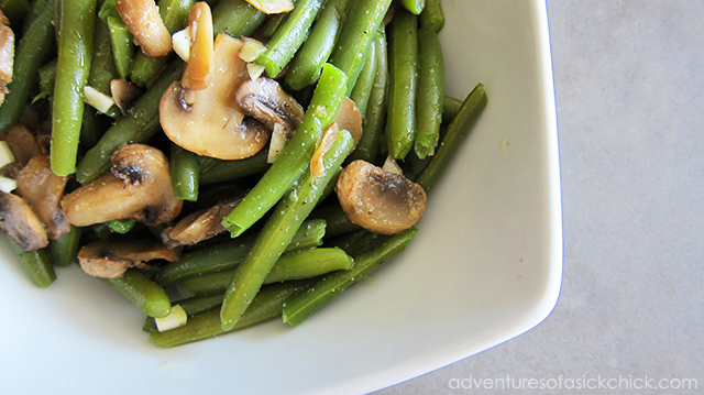 Green Bean and Mushroom Salad, Adventures of a Sick Chick