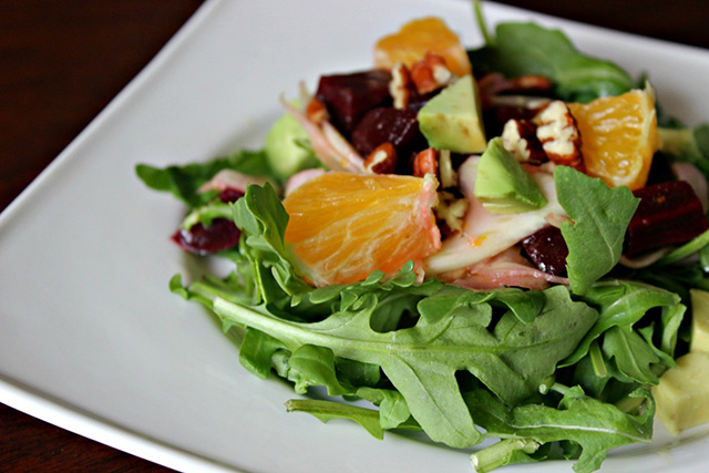 Triple Orange, Fennel & Beet Salad with Arugula, Rachel's Nourishing Kitchen
