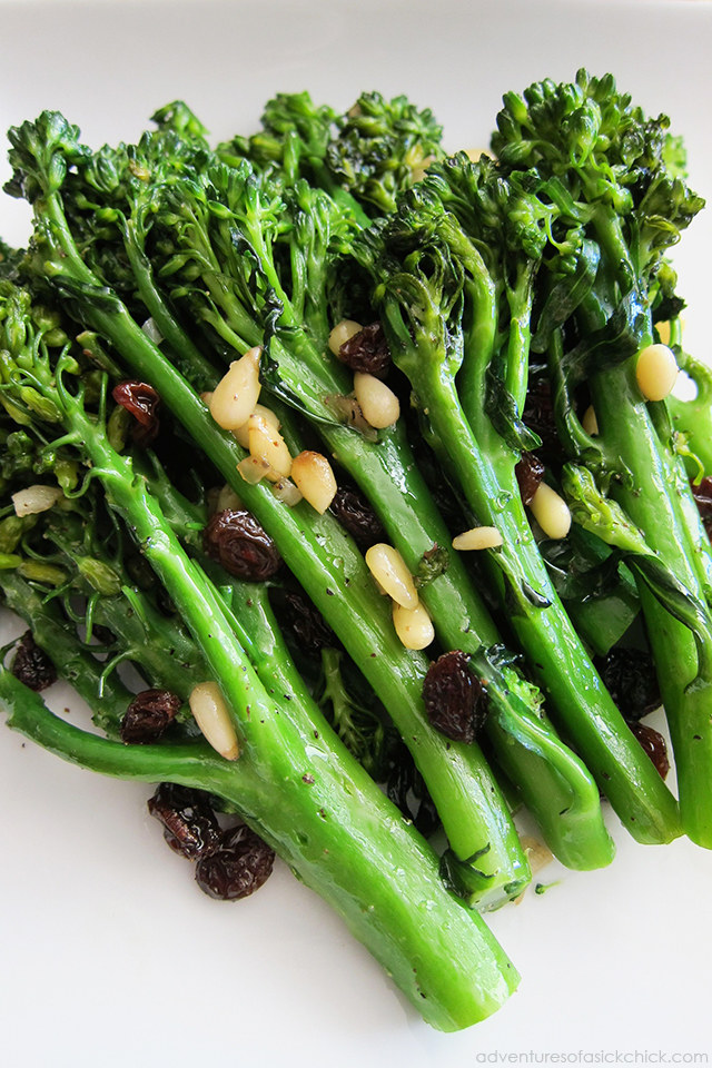 Easy Paleo Fall Recipes: Sautéed Broccolini (Paleo, Vegan)