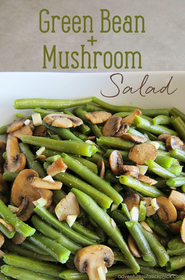 Easy Paleo Fall Recipes: Green Bean and Mushroom Salad