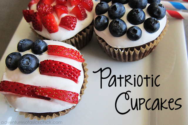 Patriotic Double Chocolate Cupcakes