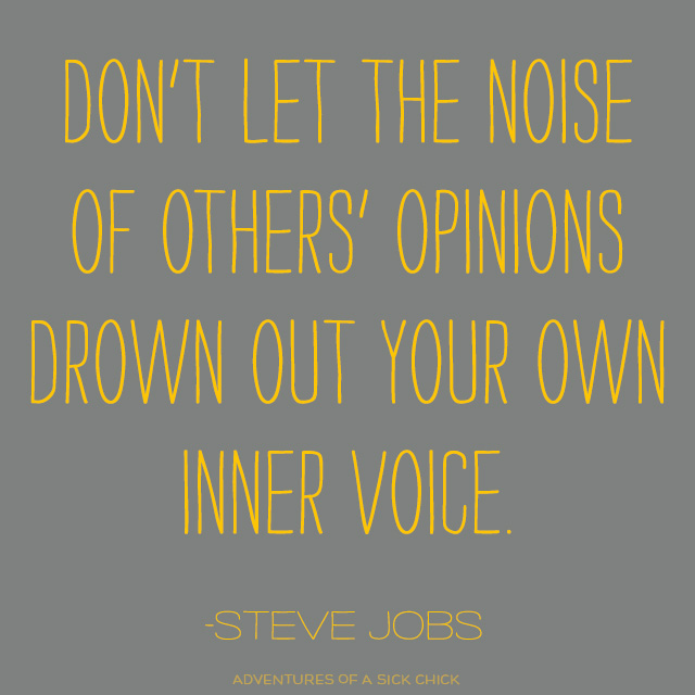 Steve Jobs Quote: Don't Let the Noise of Others' Opinions Drown Out Your Own Inner Voice
