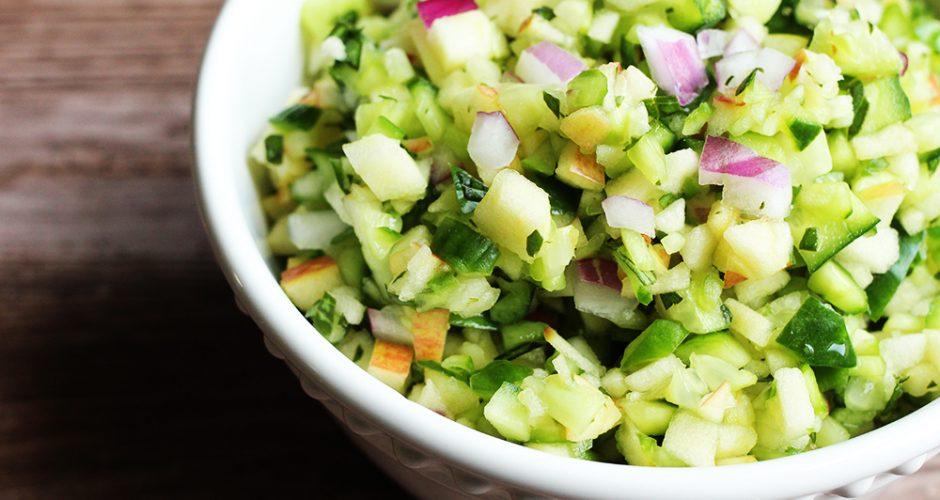 Cucumber Apple Salsa (Paleo, AIP, Vegan)