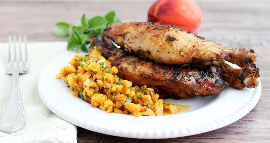BBQ Chicken with Peach Salsa (Paleo, AIP)