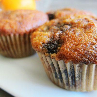 Paleo Blueberry Orange Muffins