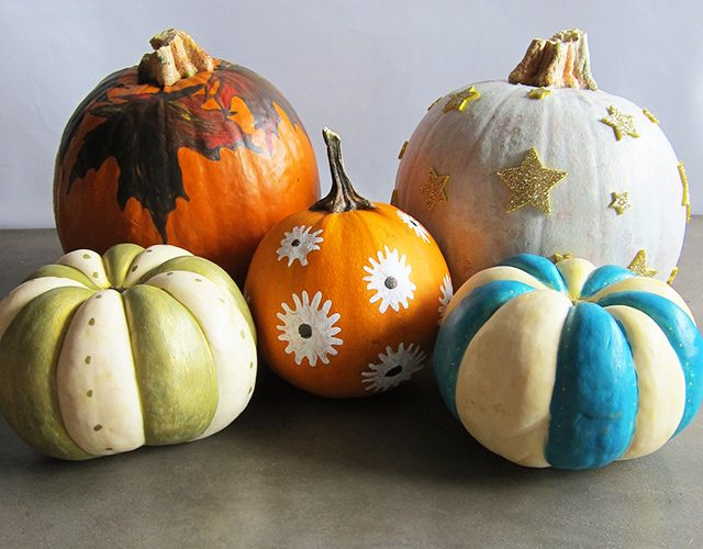3 Fun Fall Projects, Painted Pumpkins