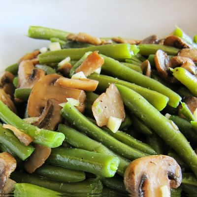 Green Bean and Mushroom Salad (Paleo, Whole30, Vegan)