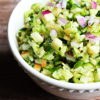 Cucumber Apple Salsa (Paleo, AIP, Whole30, Vegan)
